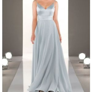 Mixed Fabric Bridesmaids Dress Arctic Blue